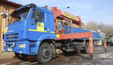 Кран манипулятор КАМАЗ 65117 10 тонн.