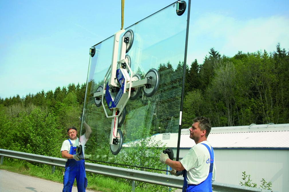 Электрическая вакуумная присоска для монтажа стекла