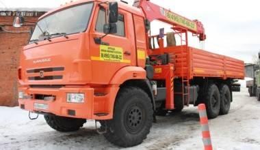 Кран манипулятор вездеход КАМАЗ 43118 10 тонн