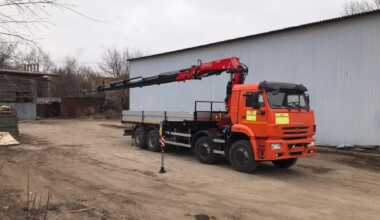 Кран манипулятор КАМАЗ 6520 13 тонн
